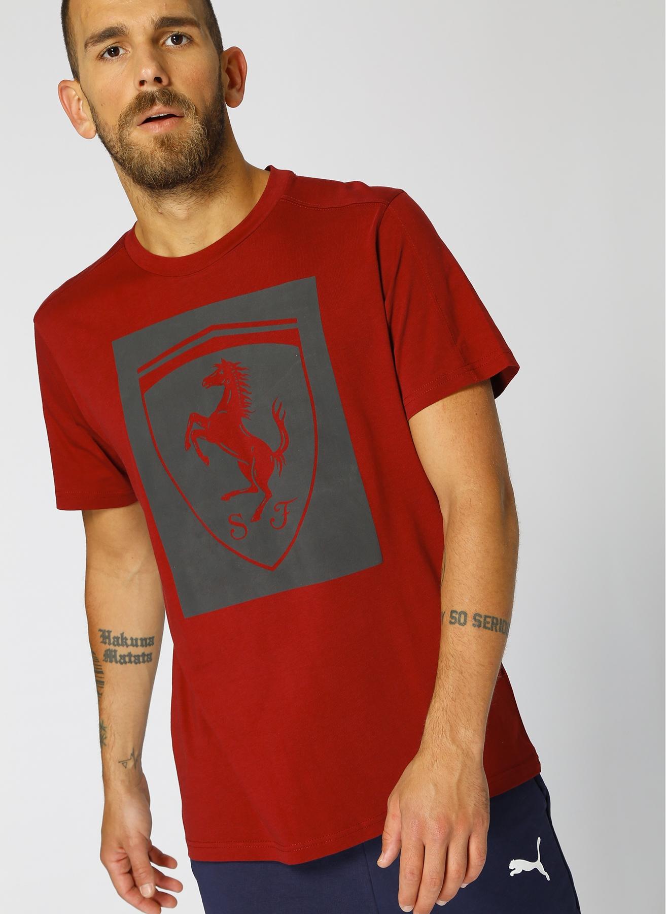 Puma Ferrari Big Shield T-Shirt S 5000430593003 Ürün Resmi
