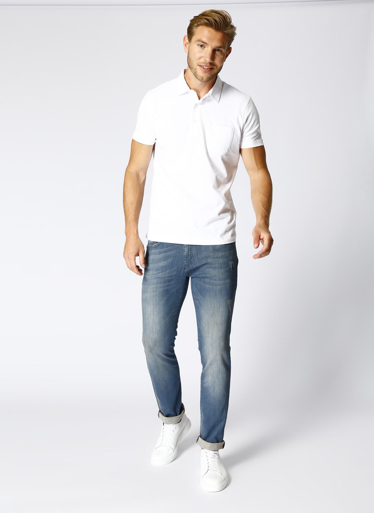 Altinyildiz Classic Eskitme Detaylı Mavi Denim Pantolon 31-32 5000430817006 Ürün Resmi