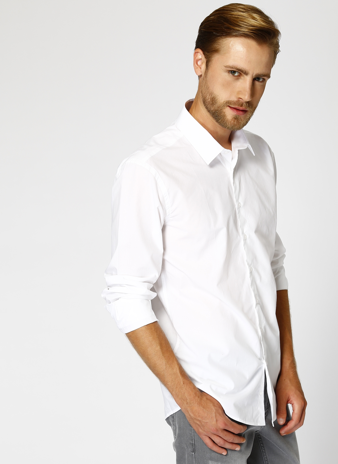 George Hogg Modern Fit Beyaz Gömlek 40 5000430883005 Ürün Resmi