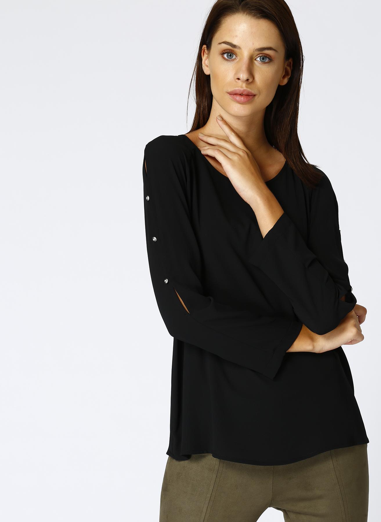 House Of Camellia Siyah Bluz 46 5001628163006 Ürün Resmi