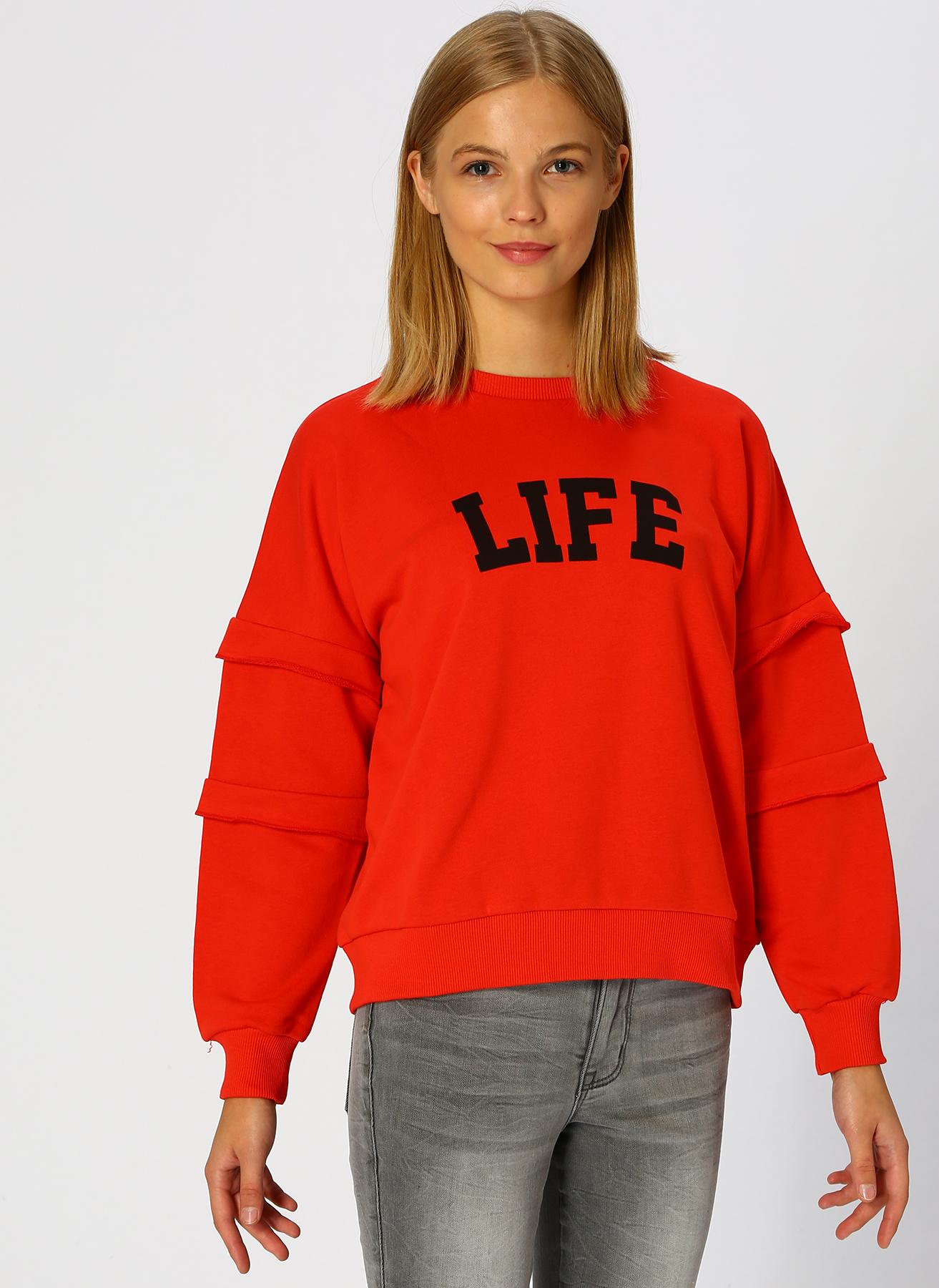 T-Box Kırmızı Sweatshirt S 5001628903002 Ürün Resmi