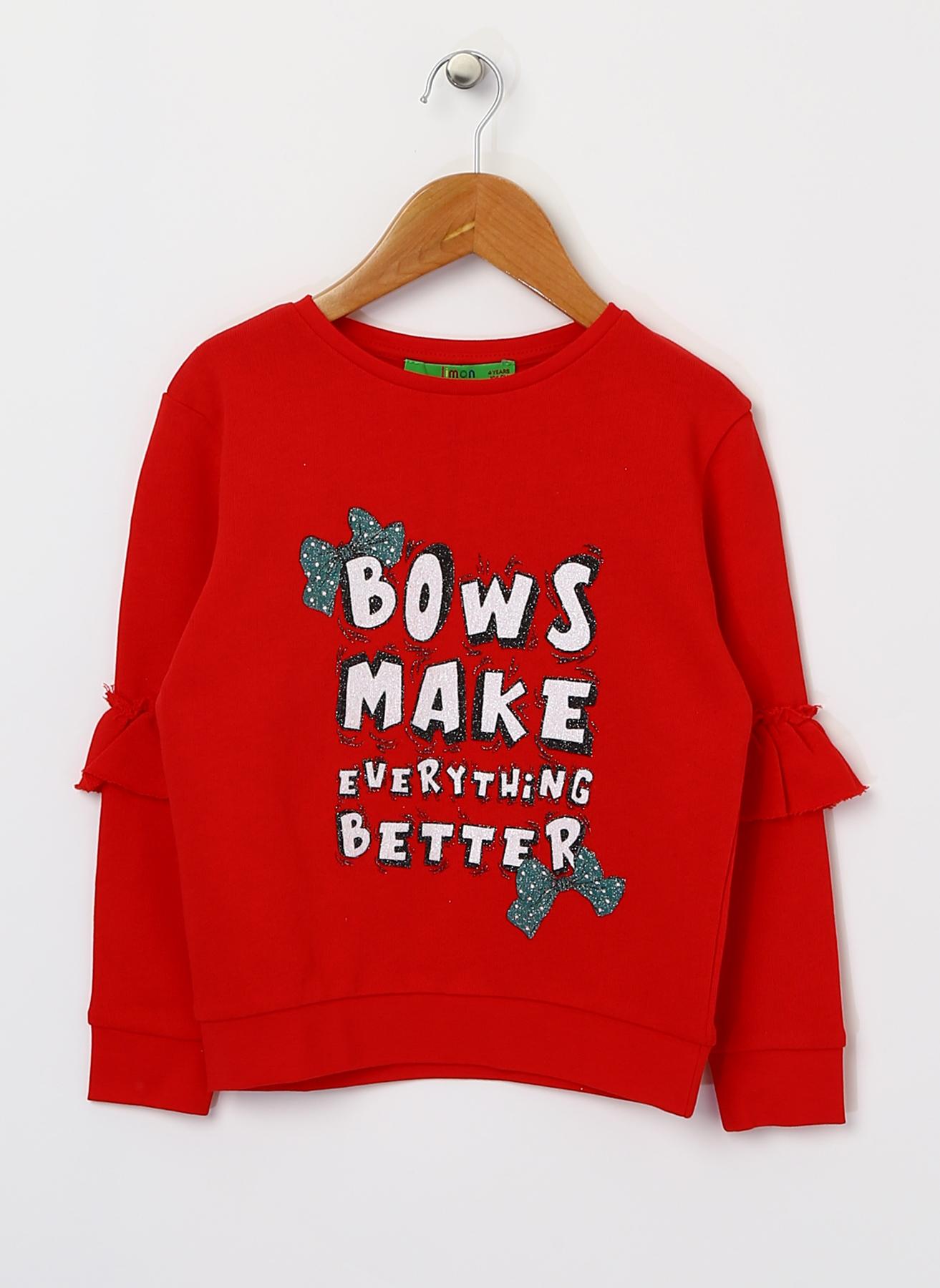 Limon Yazılı Kırmızı Sweatshirt 7-8 Yaş 5001628976005 Ürün Resmi