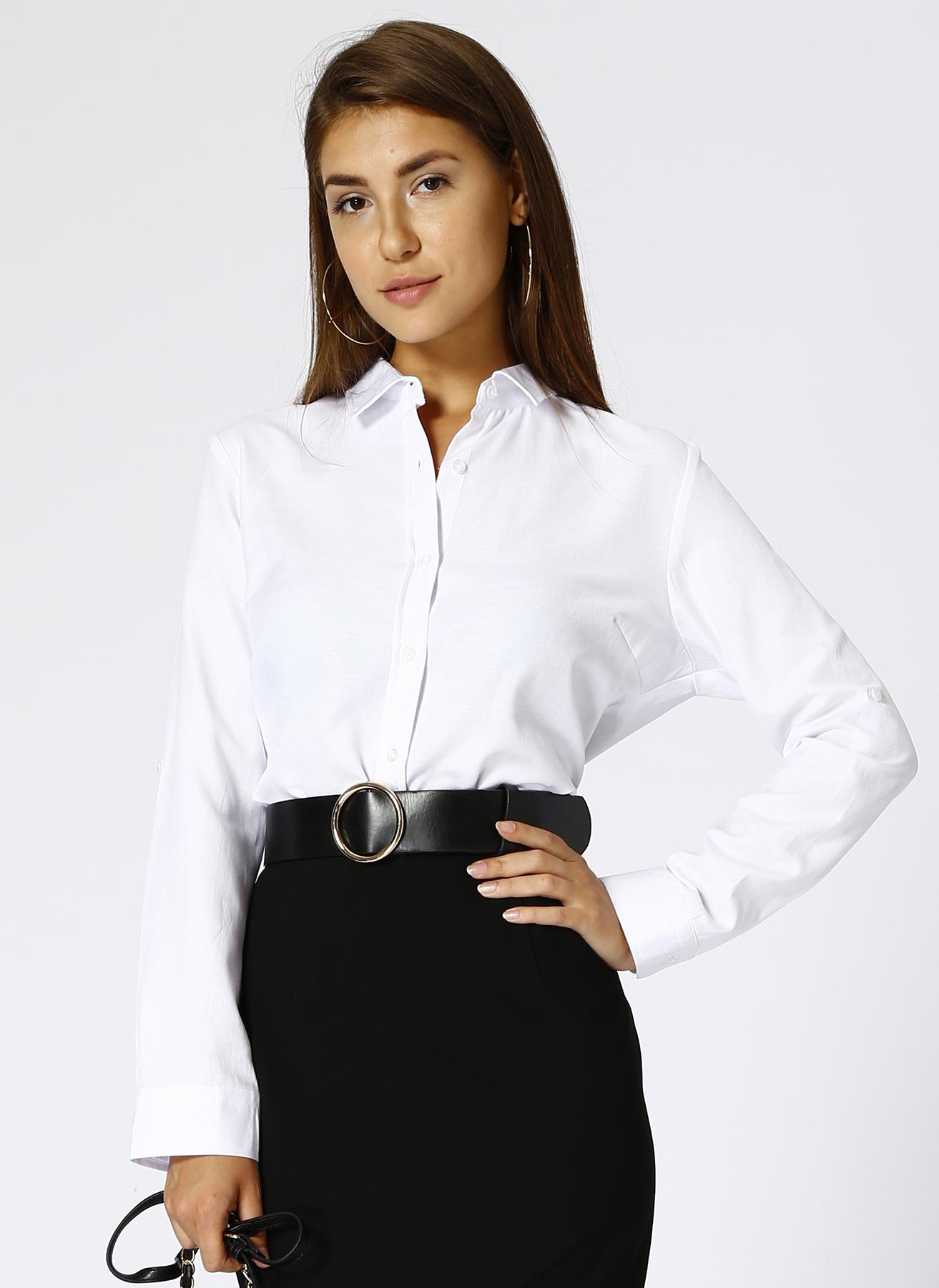 Limon Beyaz Gömlek 38 5001629848002 Ürün Resmi
