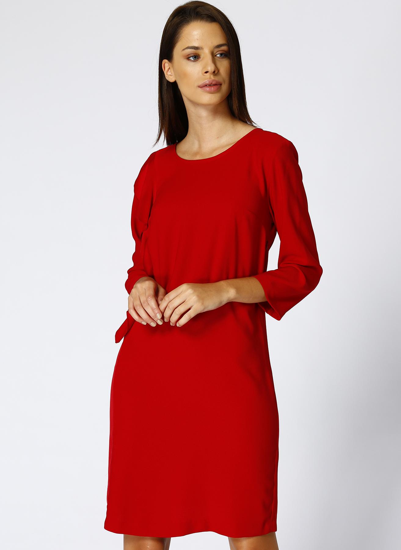 House Of Camellia Kırmızı Elbise 44 5001630484005 Ürün Resmi