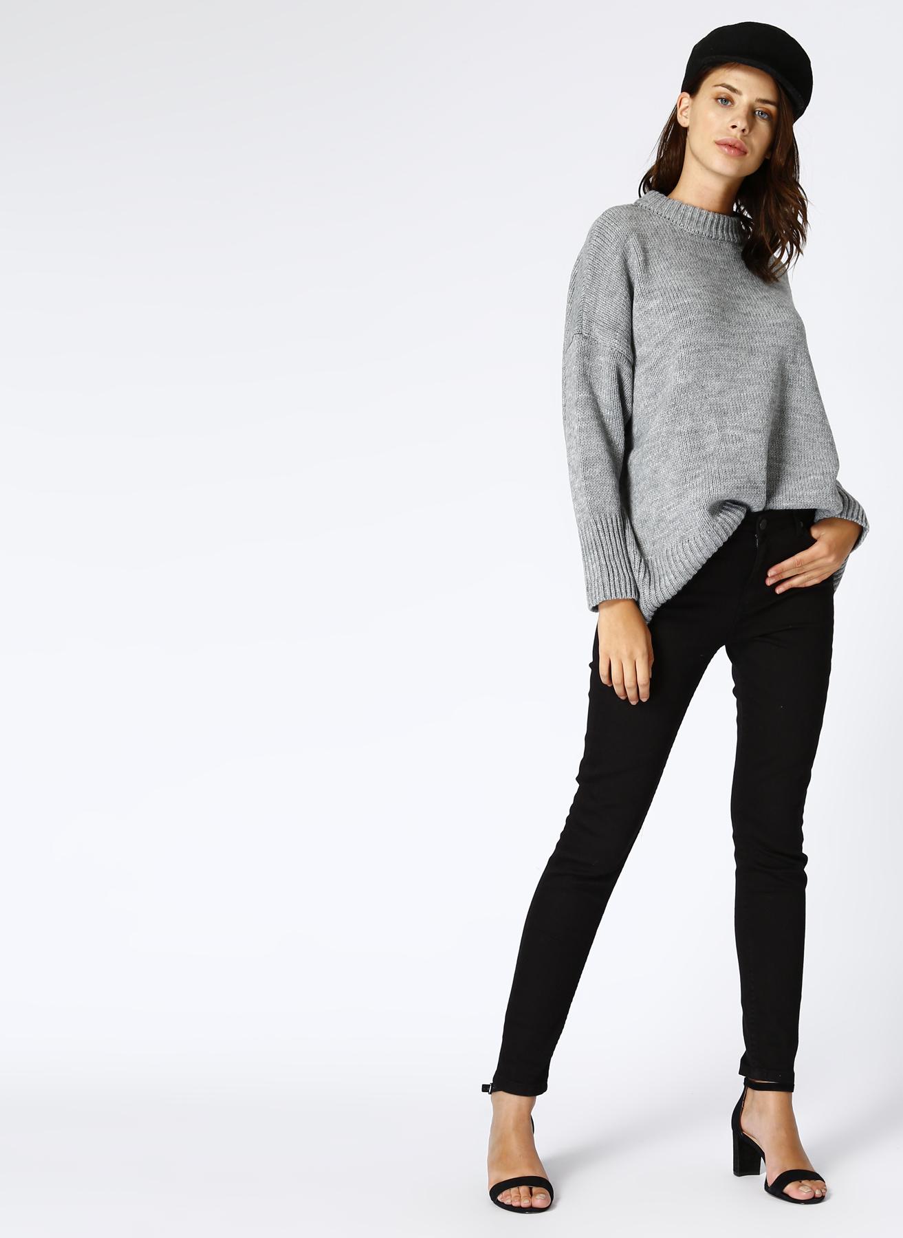 Limon Kadın Dar Paça Skinny Siyah Pantolon 40 741909