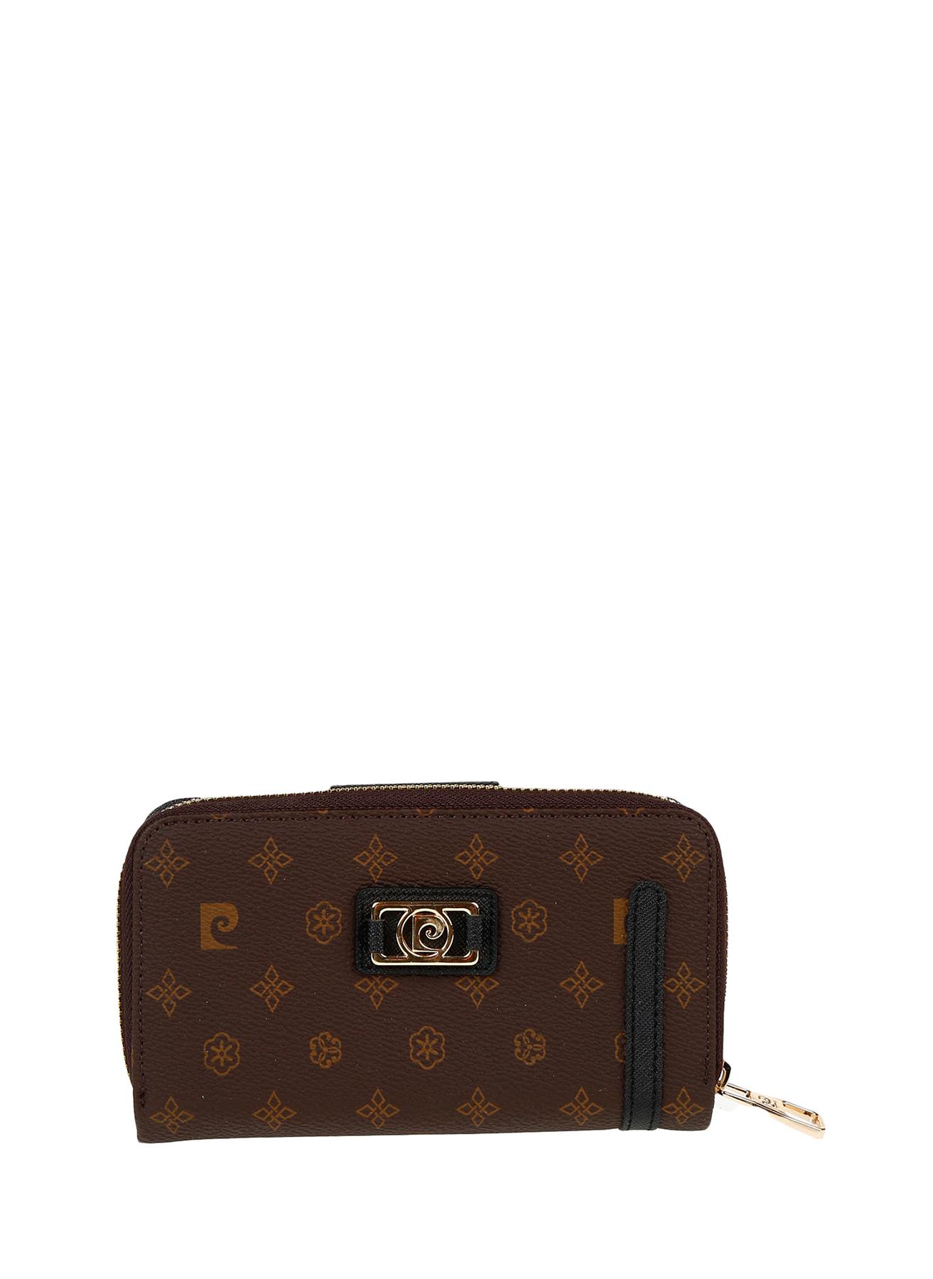 b8b31bf50afd5 Kahve Pierre Cardin Desenli Vizon Cüzdan 5001631732001 Ayakkabı & Çanta  Kadın