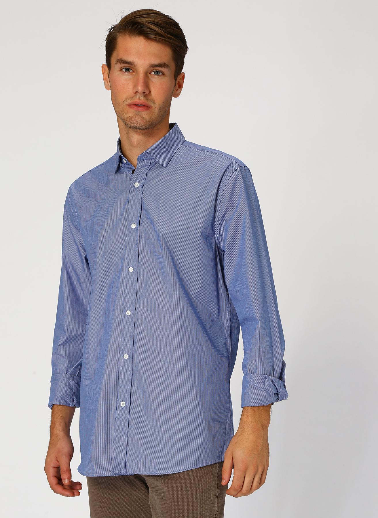 Cotton Bar Mavi Gömlek 2XL 5001632881005 Ürün Resmi