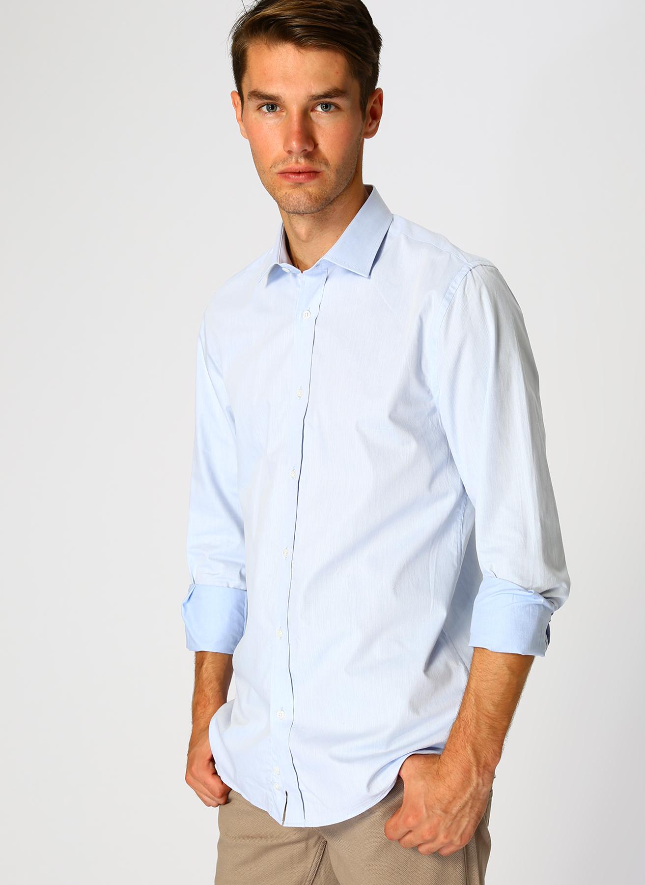 Cotton Bar Mavi Açık Gömlek S 5001632894001 Ürün Resmi