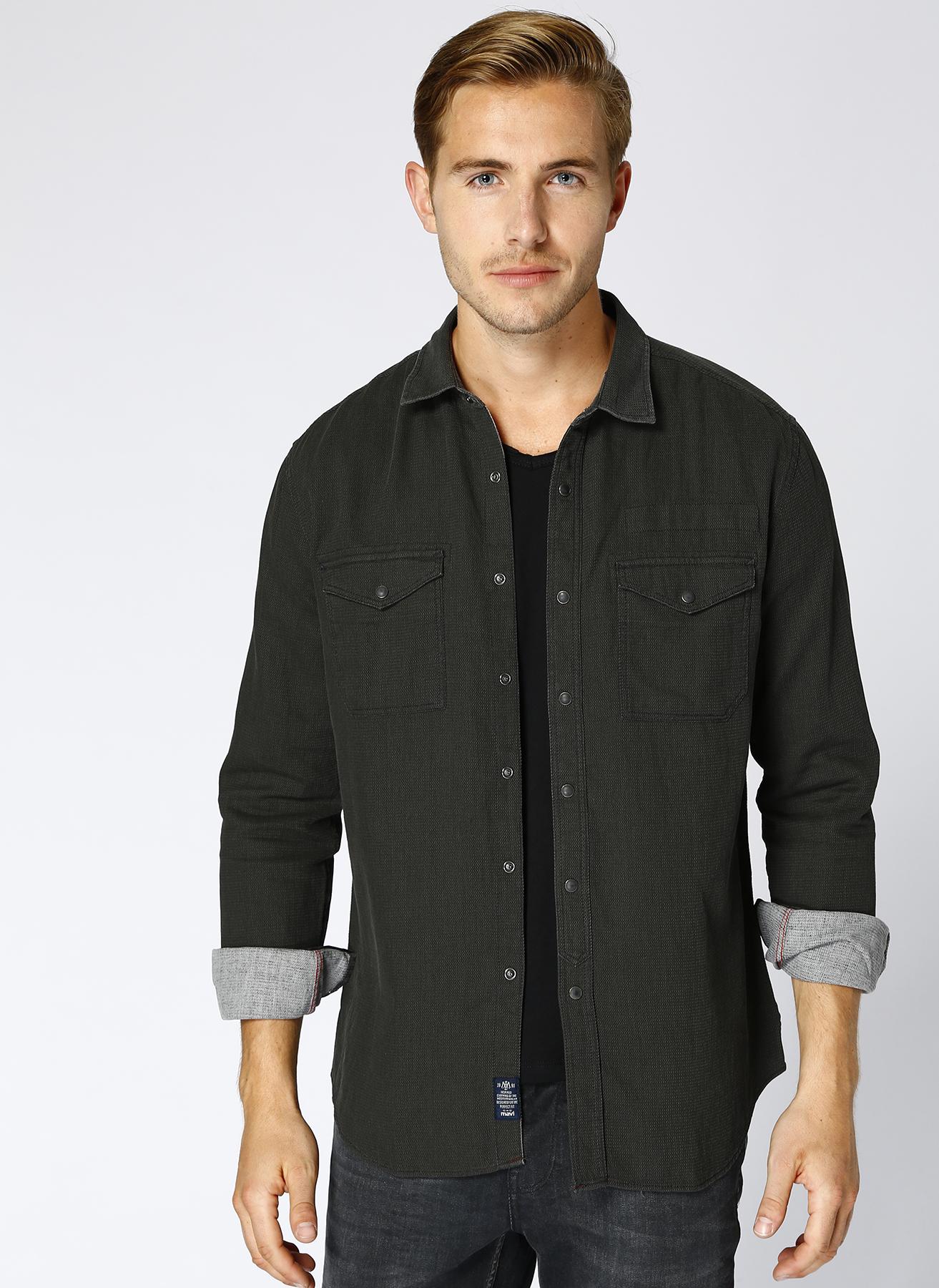 Mavi Cep Detaylı Gömlek L 5001634391001 Ürün Resmi