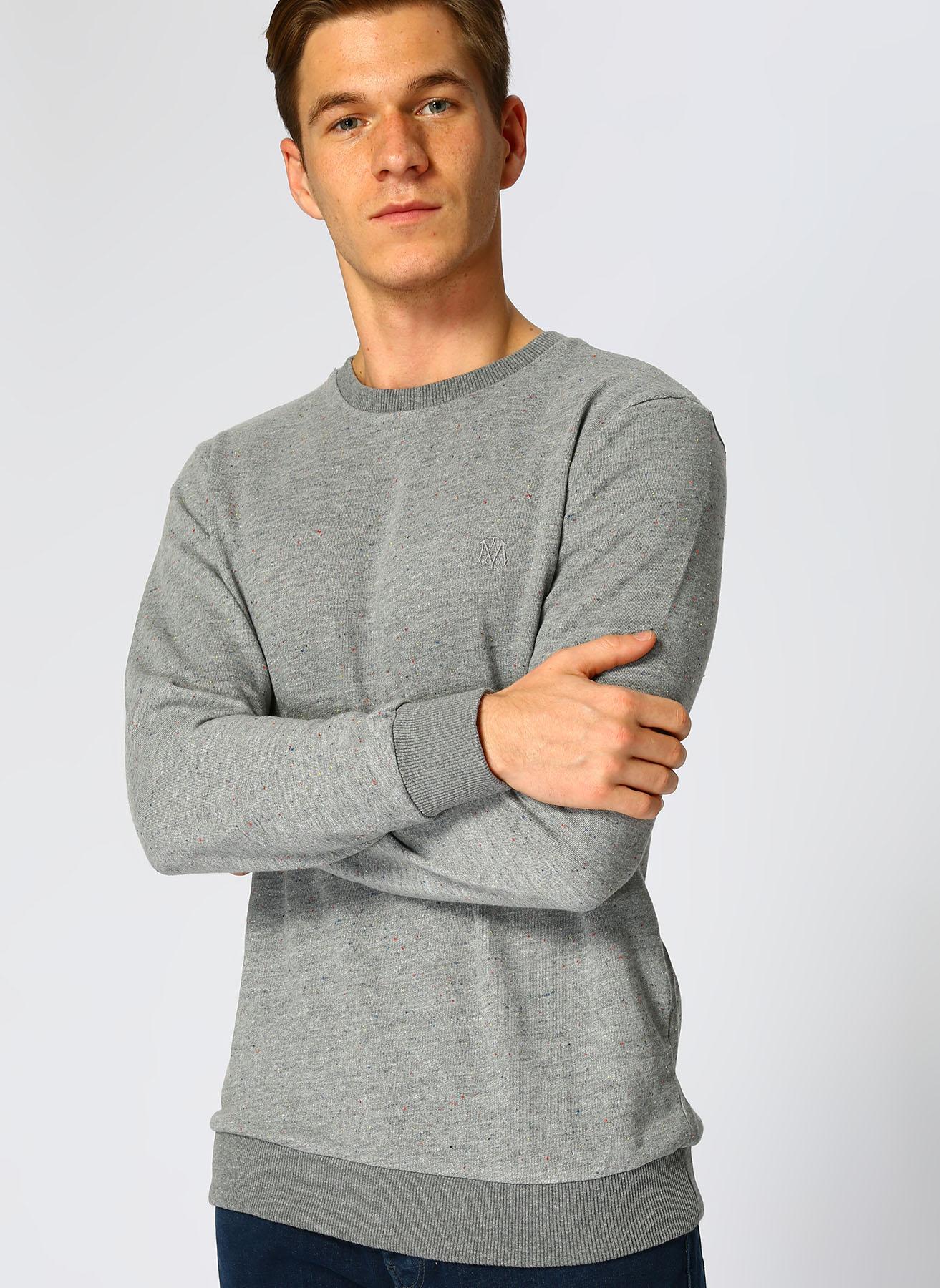 Mavi Füme Melanj Sweatshirt XL 5001634535004 Ürün Resmi