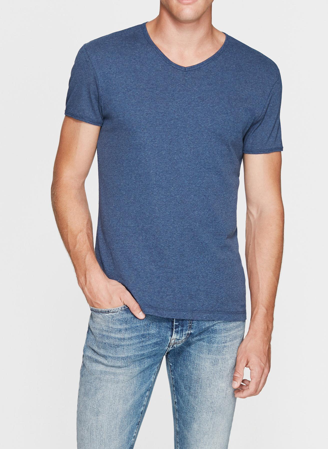 Mavi V Yaka Mavi T-Shirt M 5001634580002 Ürün Resmi