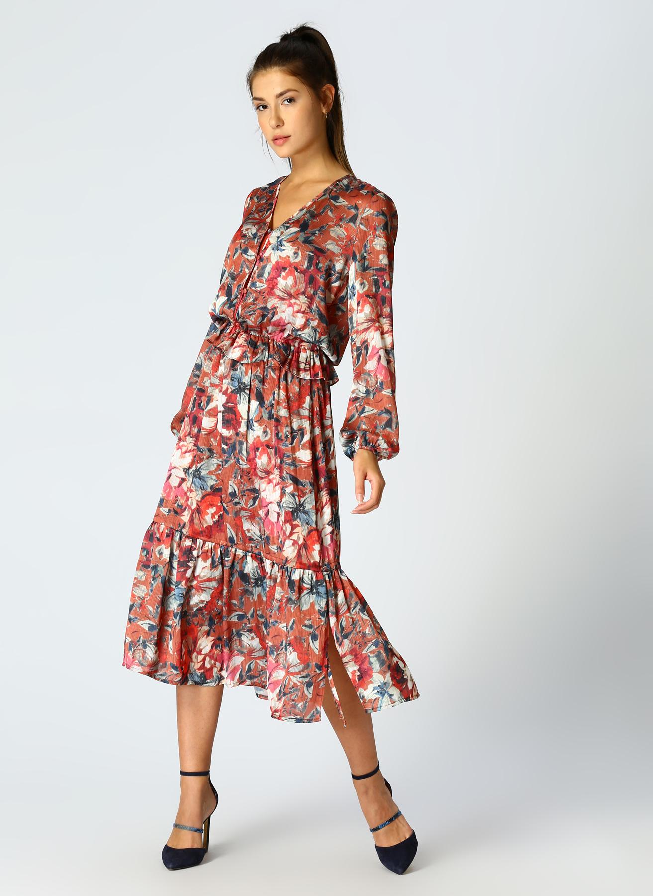 Fabrika Desenli Elbise 42 5001697251004 Ürün Resmi