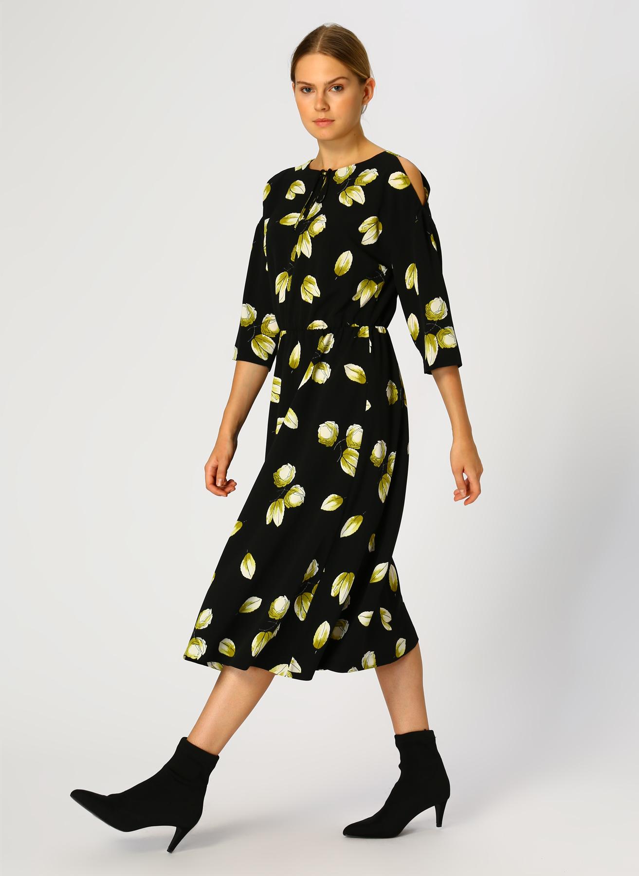 House Of Camellia Baskılı Elbise 42 5001697252004 Ürün Resmi