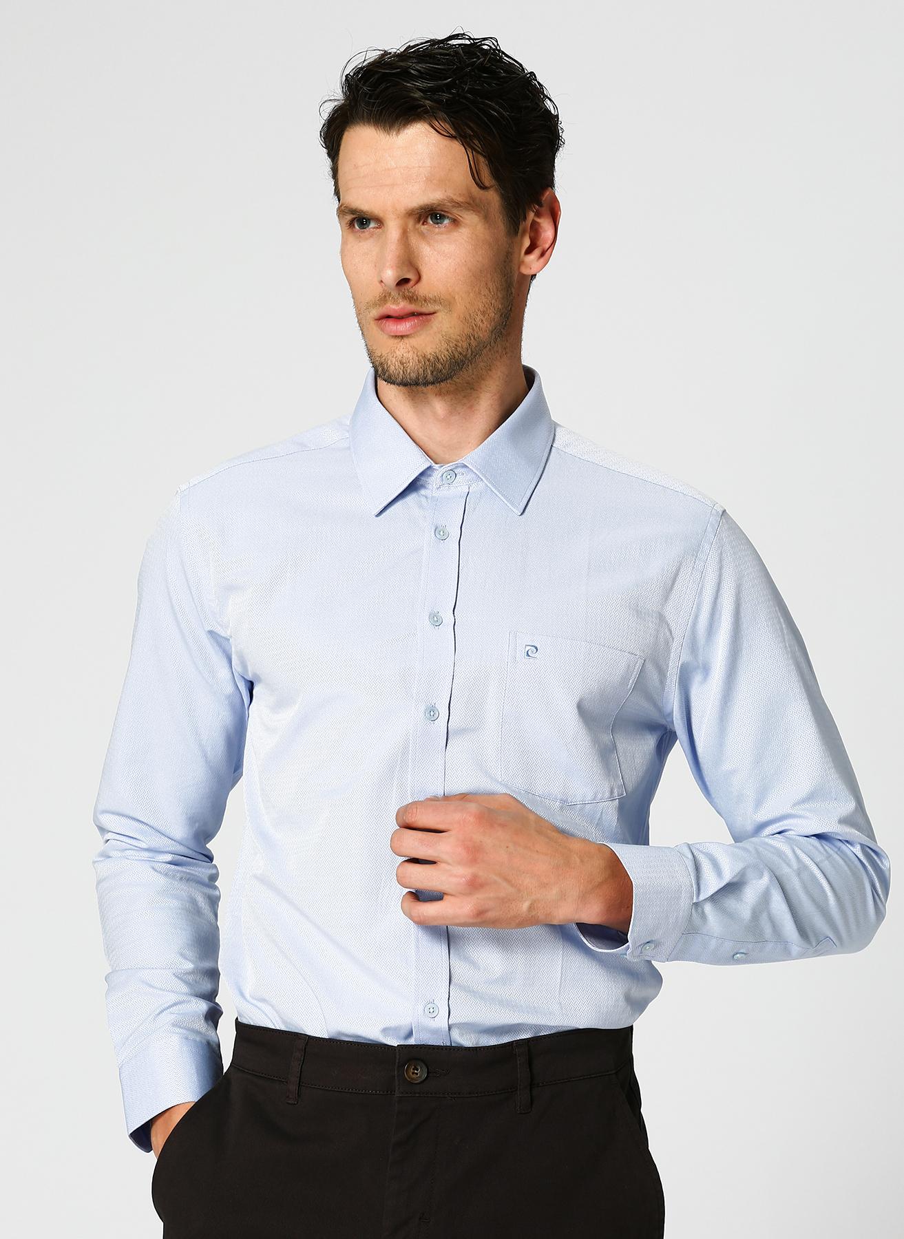 Pierre Cardin Desenli Açık Mavi Gömlek M 5001697719004 Ürün Resmi