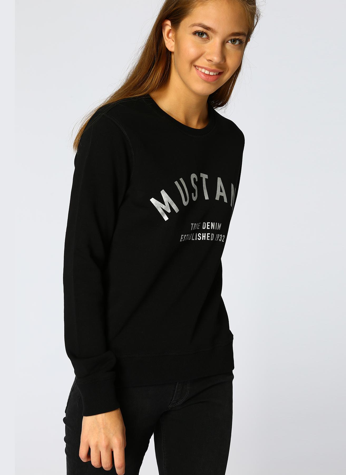 Mustang Yazılı Siyah Sweatshirt XS 5001697758004 Ürün Resmi