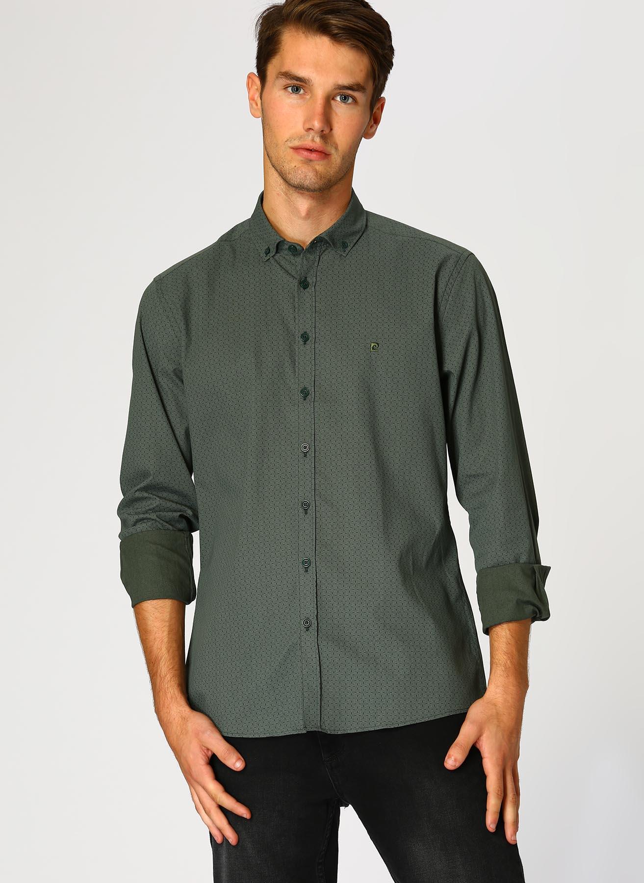 Pierre Cardin Yeşil Gömlek S 5001697816007 Ürün Resmi
