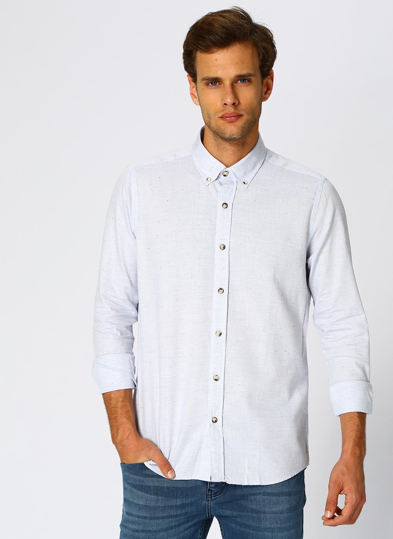 Altınyıldız Classic Açık Mavi Gömlek L 5001698164001 Ürün Resmi