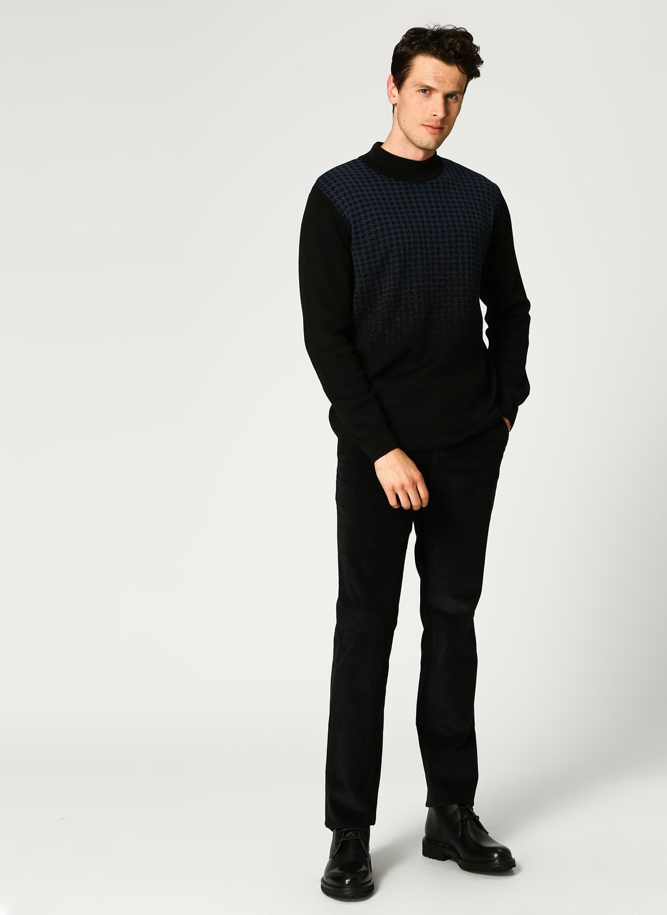 Pierre Cardin Kadife Siyah Klasik Pantolon 46 5001698316001 Ürün Resmi