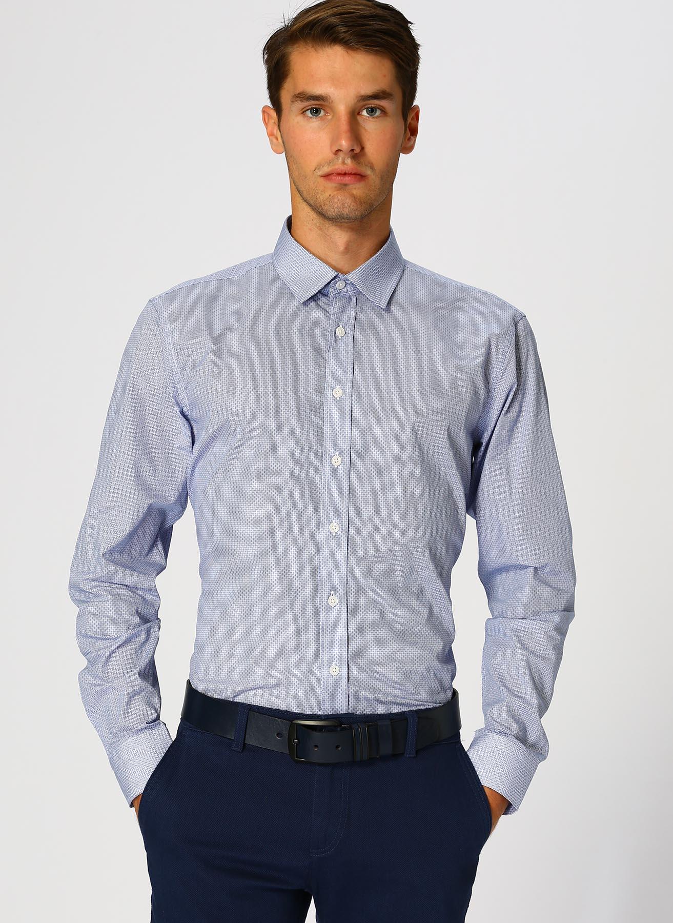 Network Beyaz - Mavi Gömlek 44 5001699161006 Ürün Resmi