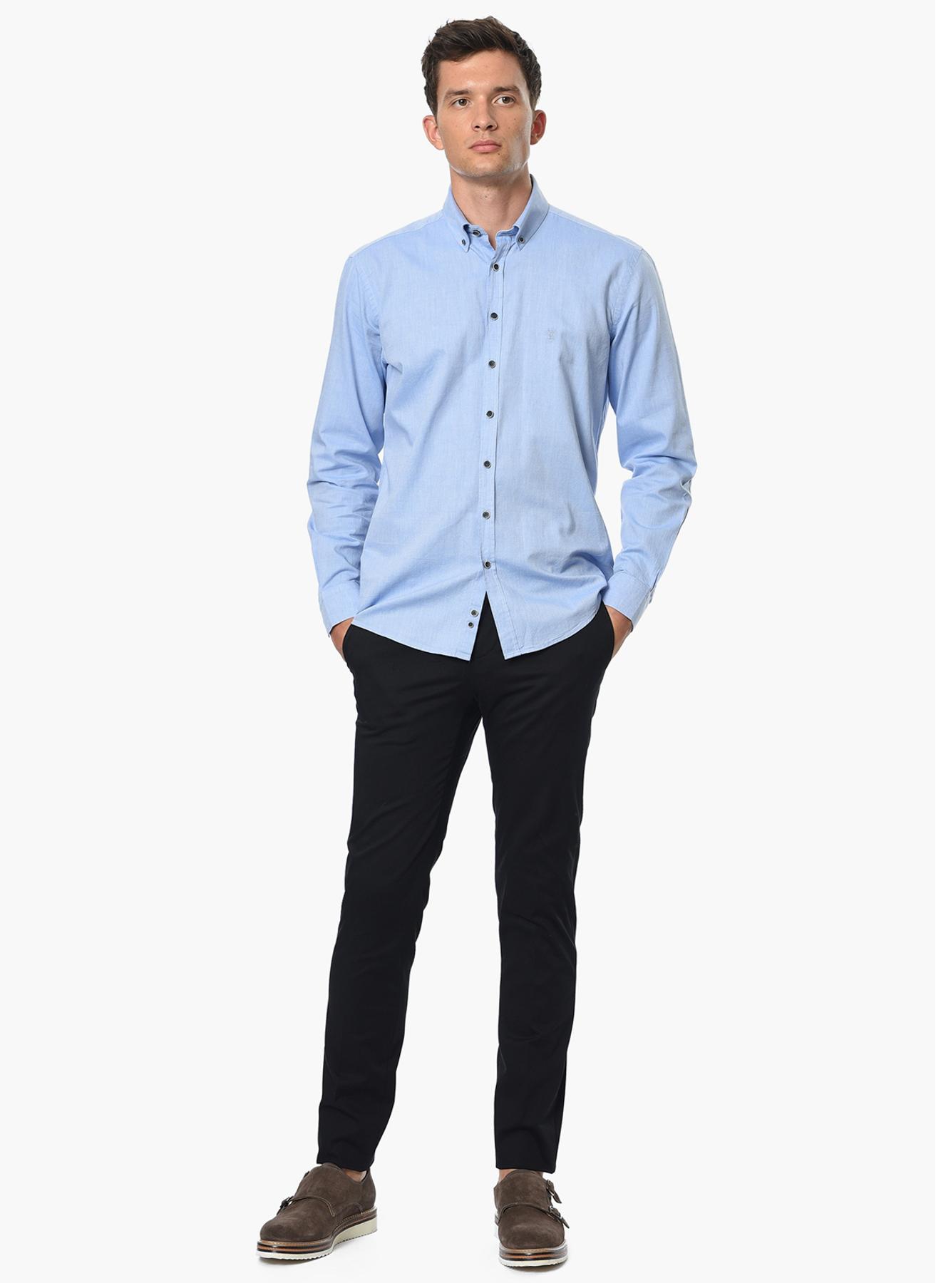 George Hogg Modern Fit Mavi Gömlek 43 5001699211005 Ürün Resmi