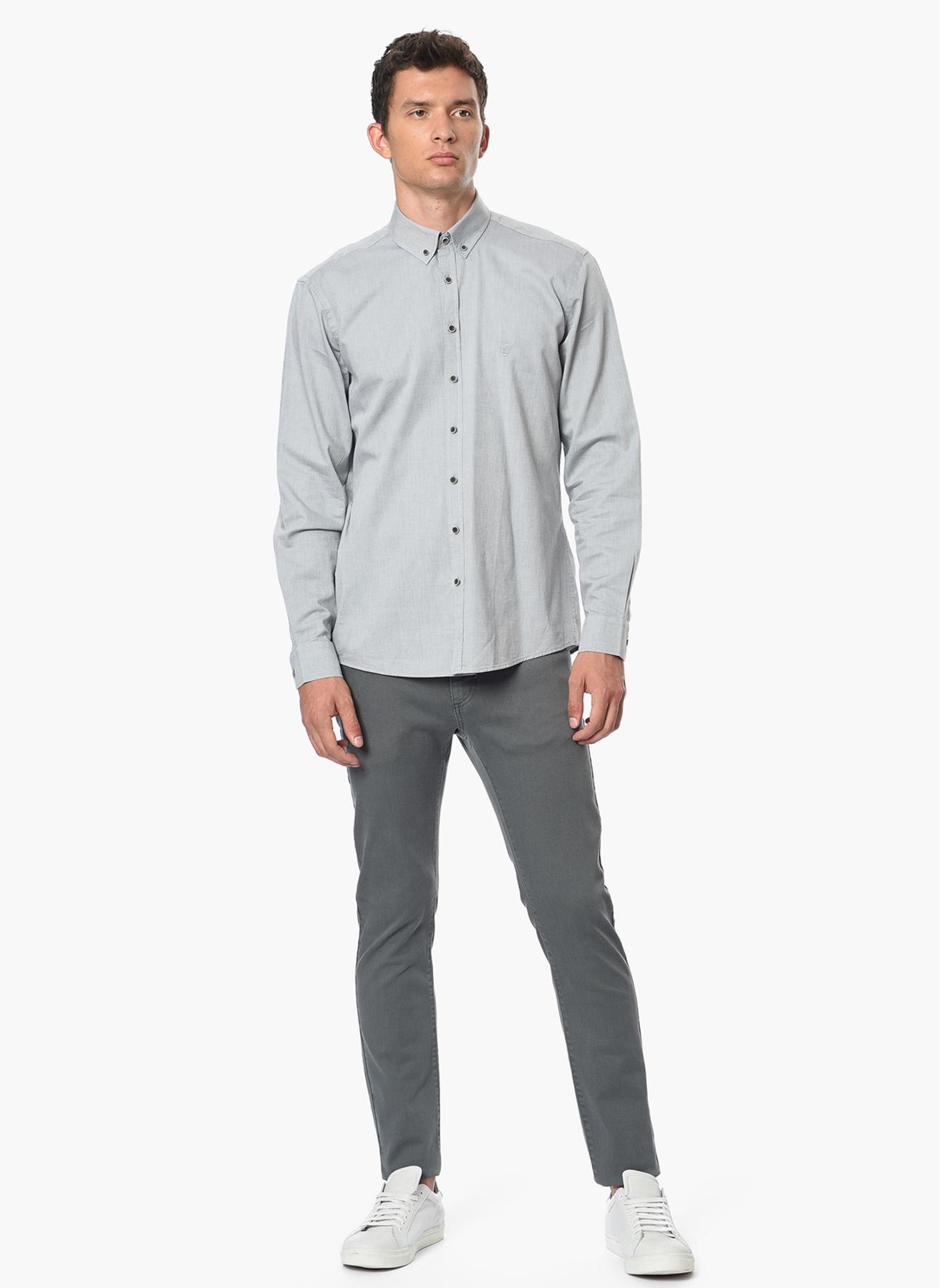 George Hogg Modern Fit Gri Gömlek 42 5001699214004 Ürün Resmi