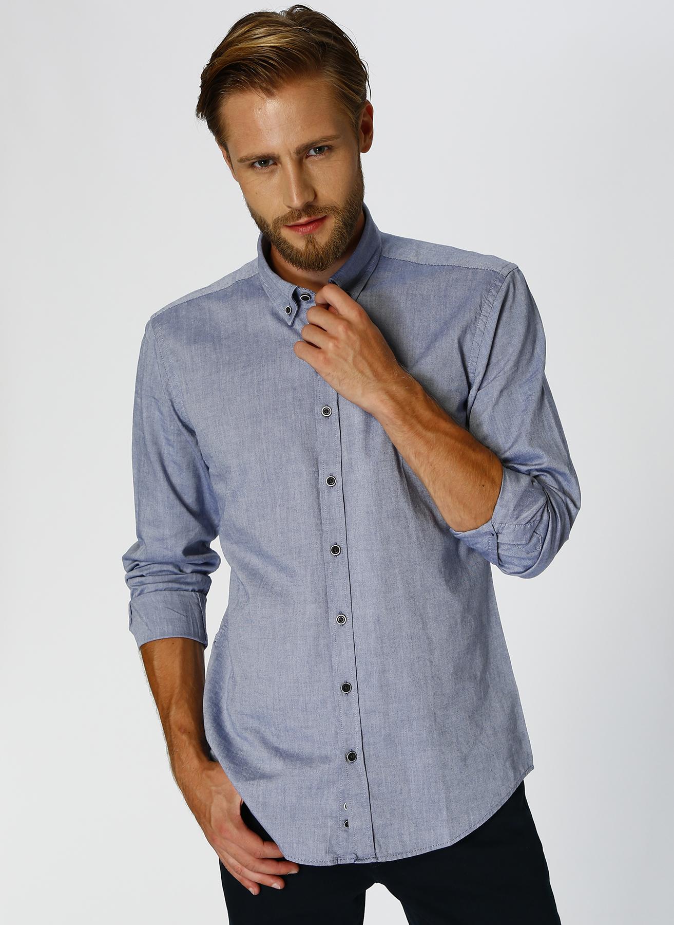 George Hogg Modern Fit Lacivert Gömlek 43 5001699217005 Ürün Resmi