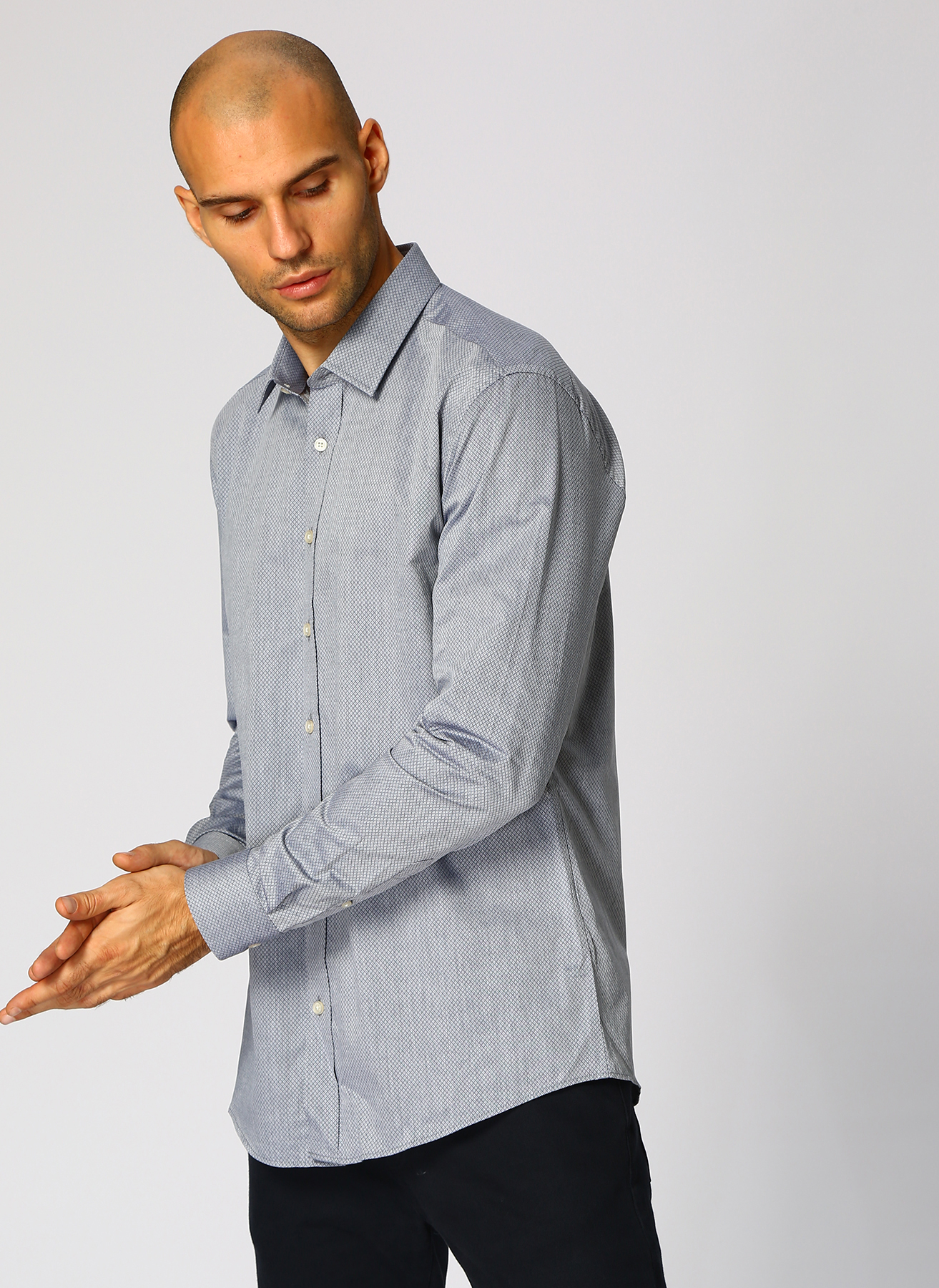 George Hogg Koyu Lacivert Gömlek 45 5001699228007 Ürün Resmi