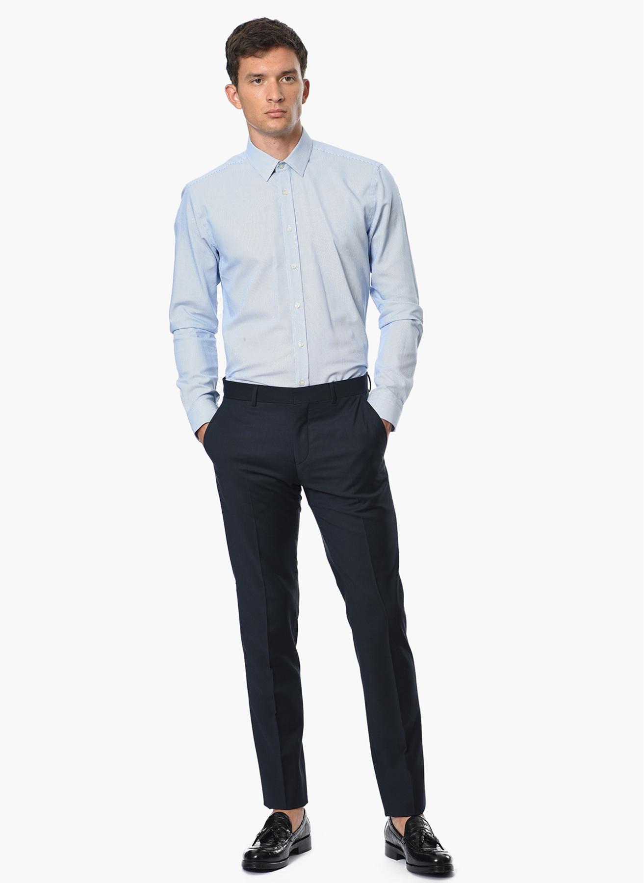 George Hogg Çizgili Mavi - Beyaz Gömlek 41 5001699229003 Ürün Resmi