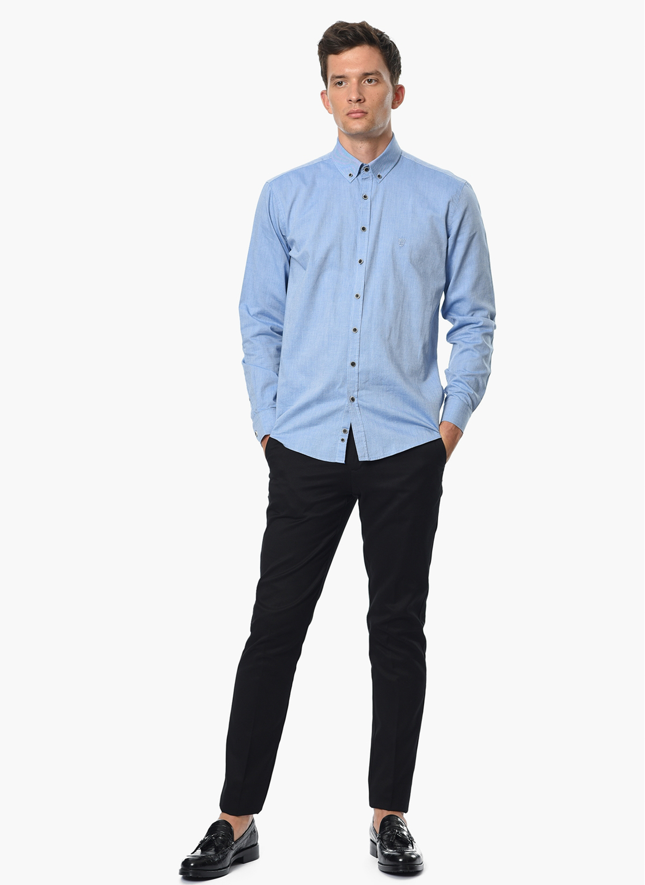 George Hogg Armürlü Siyah Klasik Pantolon 52-6 5001699243004 Ürün Resmi