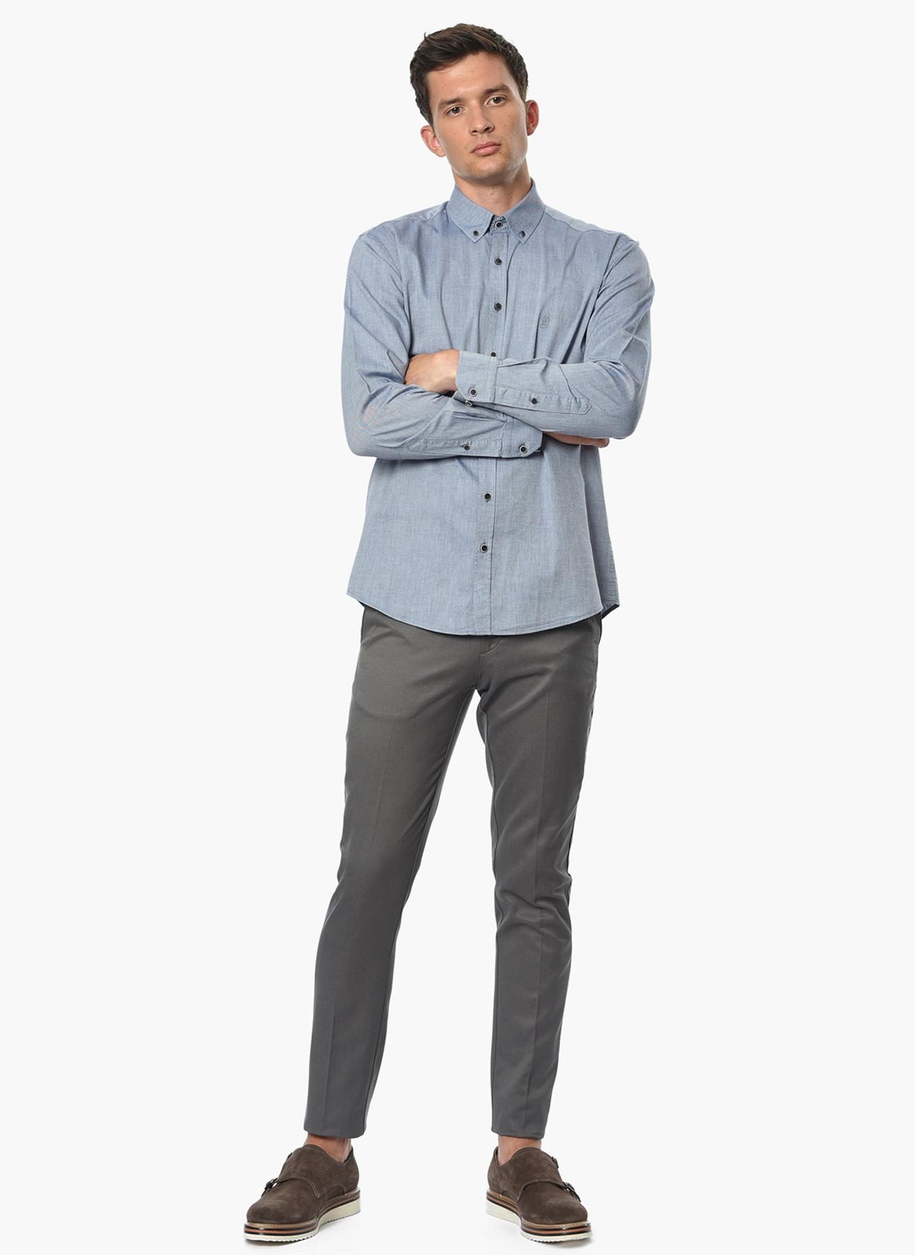 George Hogg Casual Gri Klasik Pantolon 46-6 5001699247001 Ürün Resmi