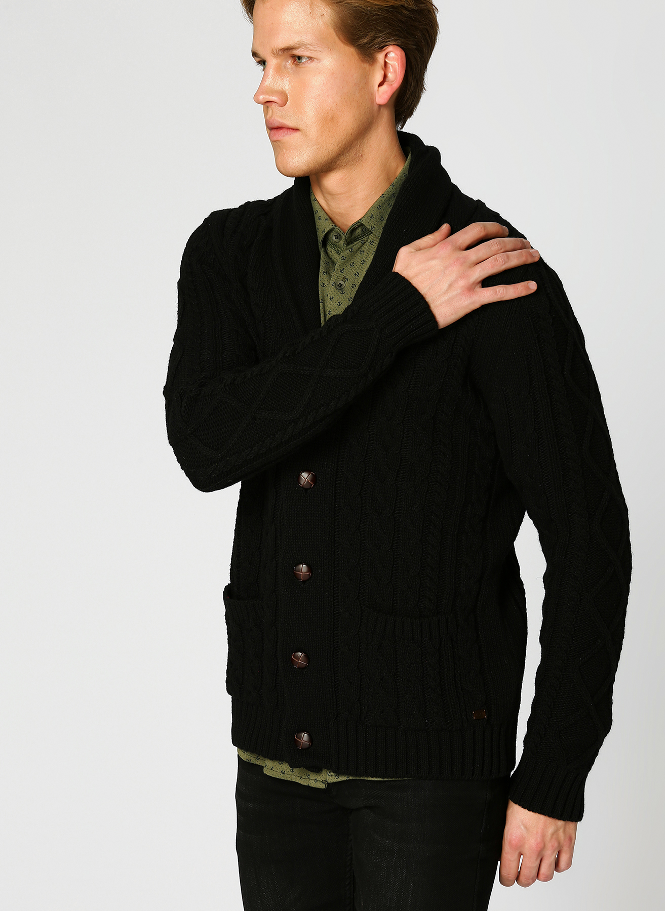 George Hogg Örgü Siyah Hırka S 5001699257001 Ürün Resmi