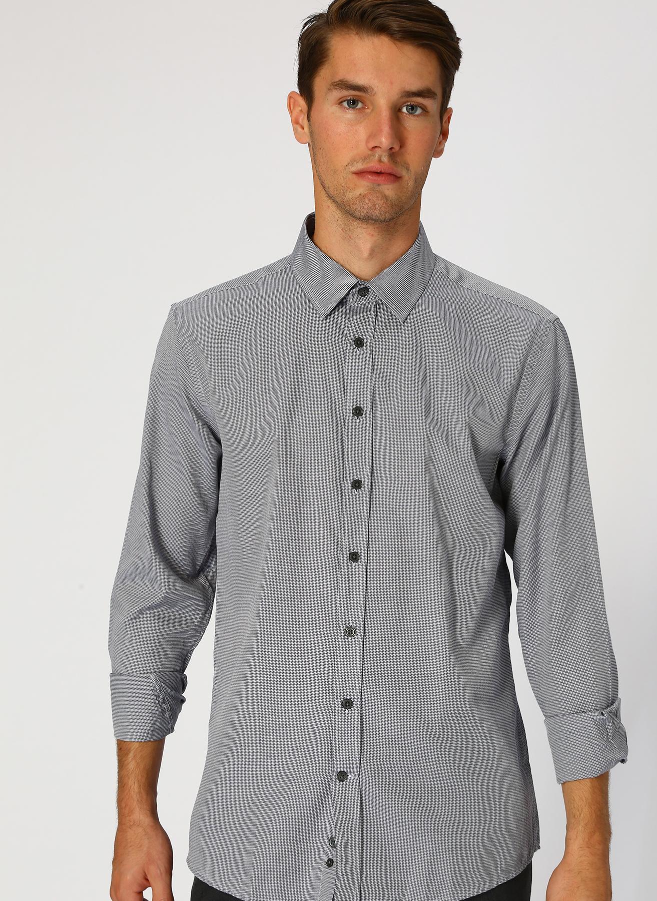 George Hogg Siyah - Beyaz Gömlek 43 5001699333005 Ürün Resmi