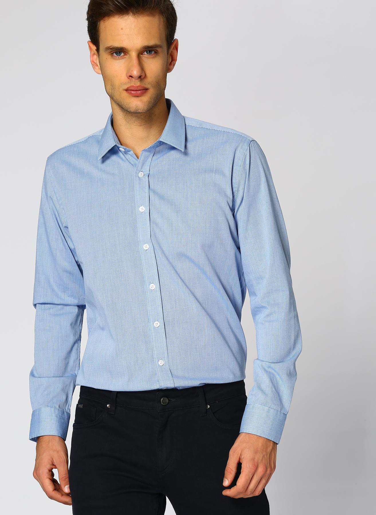 George Hogg Turkuaz - Mavi - Siyah Gömlek 41 5001699335003 Ürün Resmi