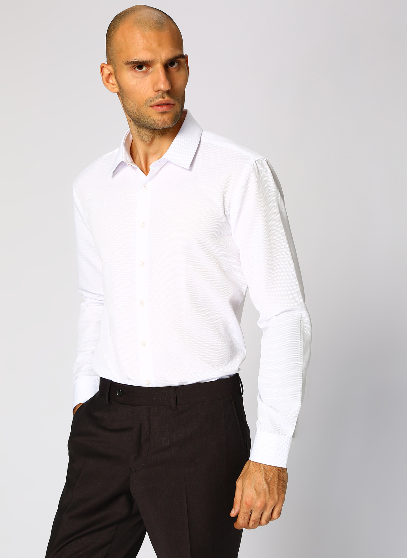 George Hogg Beyaz Gömlek 42 5001699369004 Ürün Resmi