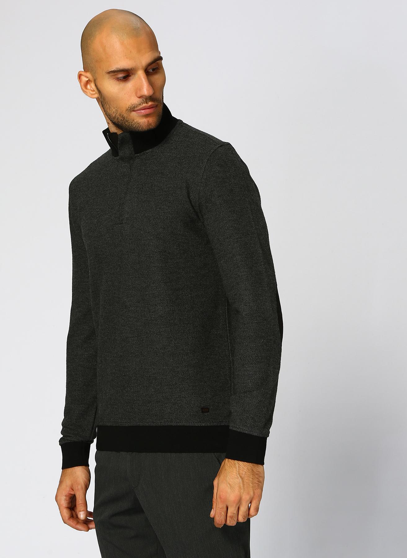 George Hogg Fermuarlı Yaka Antrasit Sweatshirt M 5001699377002 Ürün Resmi