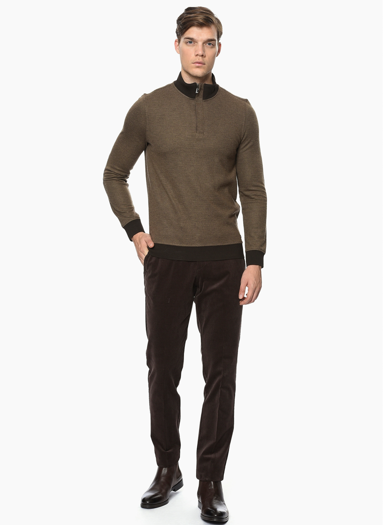George Hogg Kadife Kahverengi Klasik Pantolon 50-6 5001699443003 Ürün Resmi
