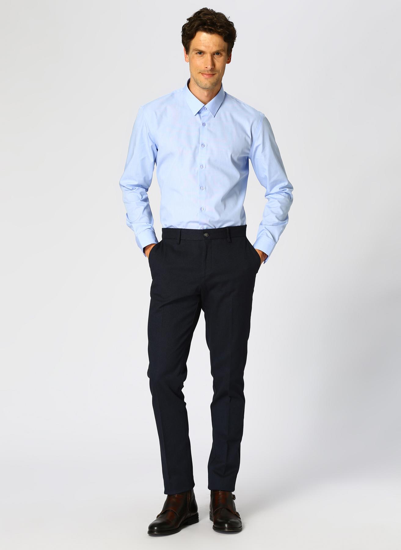 George Hogg Koyu Lacivert Klasik Pantolon 52-6 5001699449004 Ürün Resmi