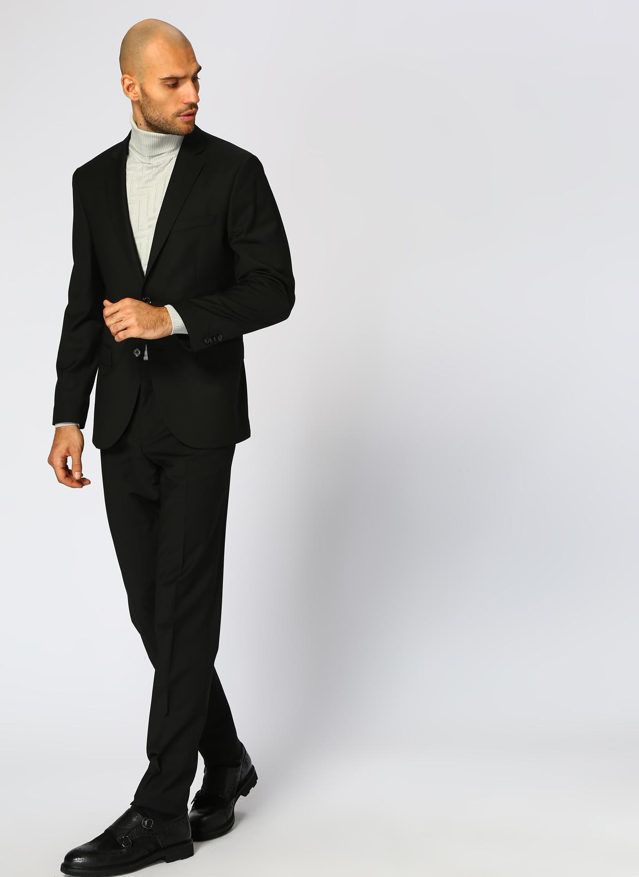 George Hogg Slim Fit Siyah Takım Elbise 56-6 5001699454006 Ürün Resmi