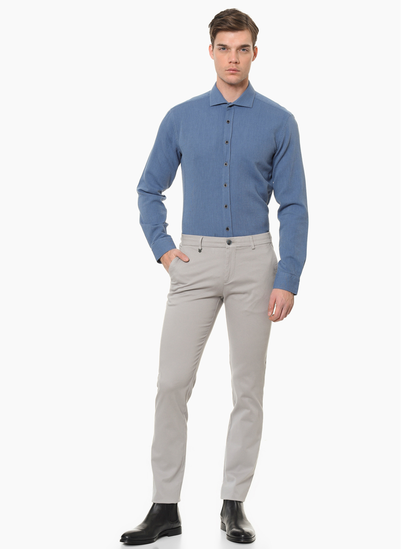 George Hogg Casual Gri Klasik Pantolon 52 5001699472004 Ürün Resmi