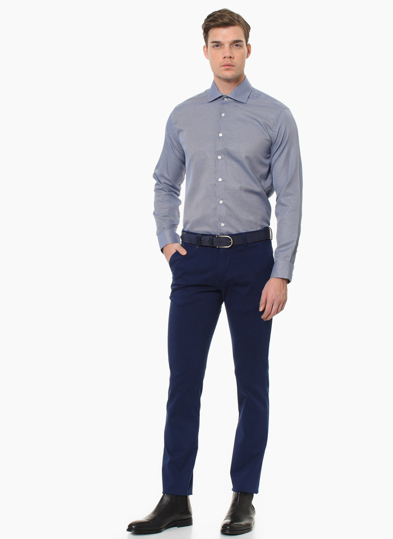 George Hogg Casual Mavi Klasik Pantolon 58 5001699474007 Ürün Resmi