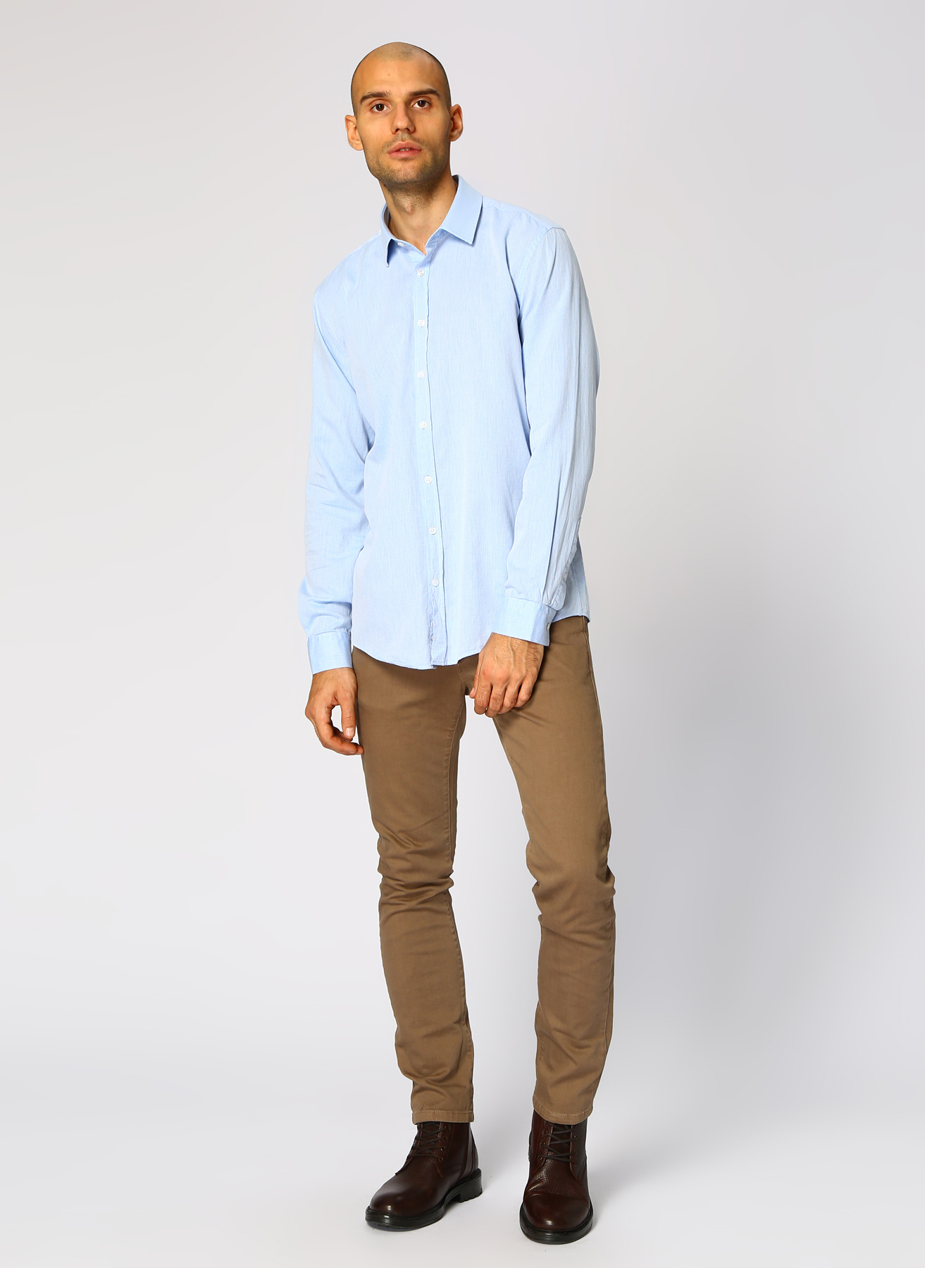 George Hogg Açık Mavi Gömlek 44 5001699486006 Ürün Resmi