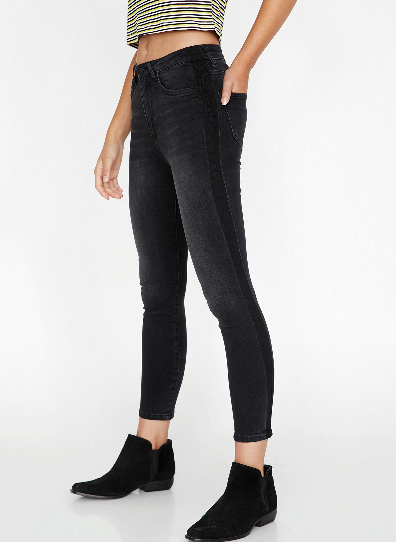 Koton Siyah Denim Pantolon 26-32 5001701395003 Ürün Resmi