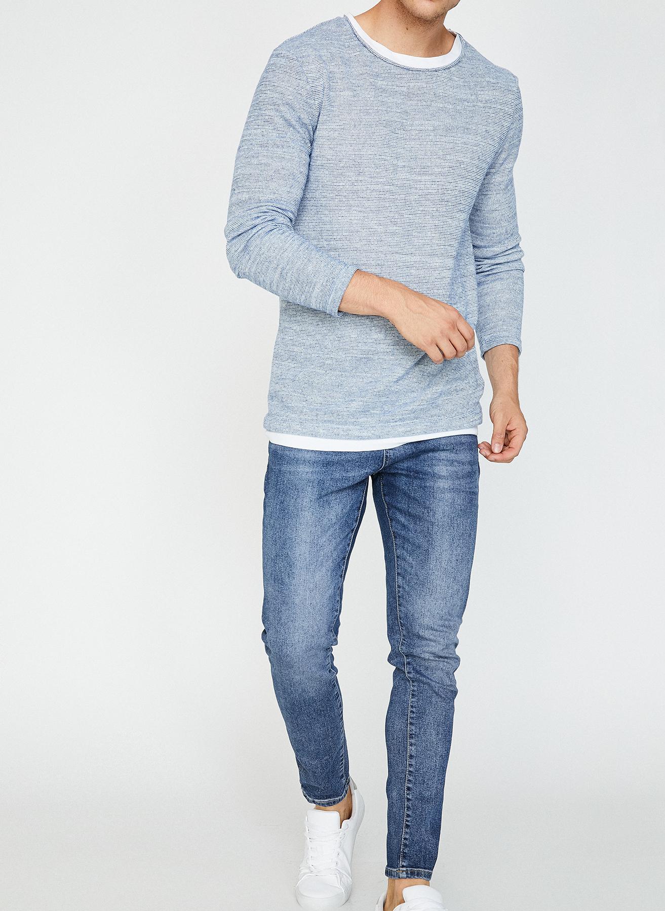 Koton Mavi Klasik Pantolon 33-32 5001703968010 Ürün Resmi