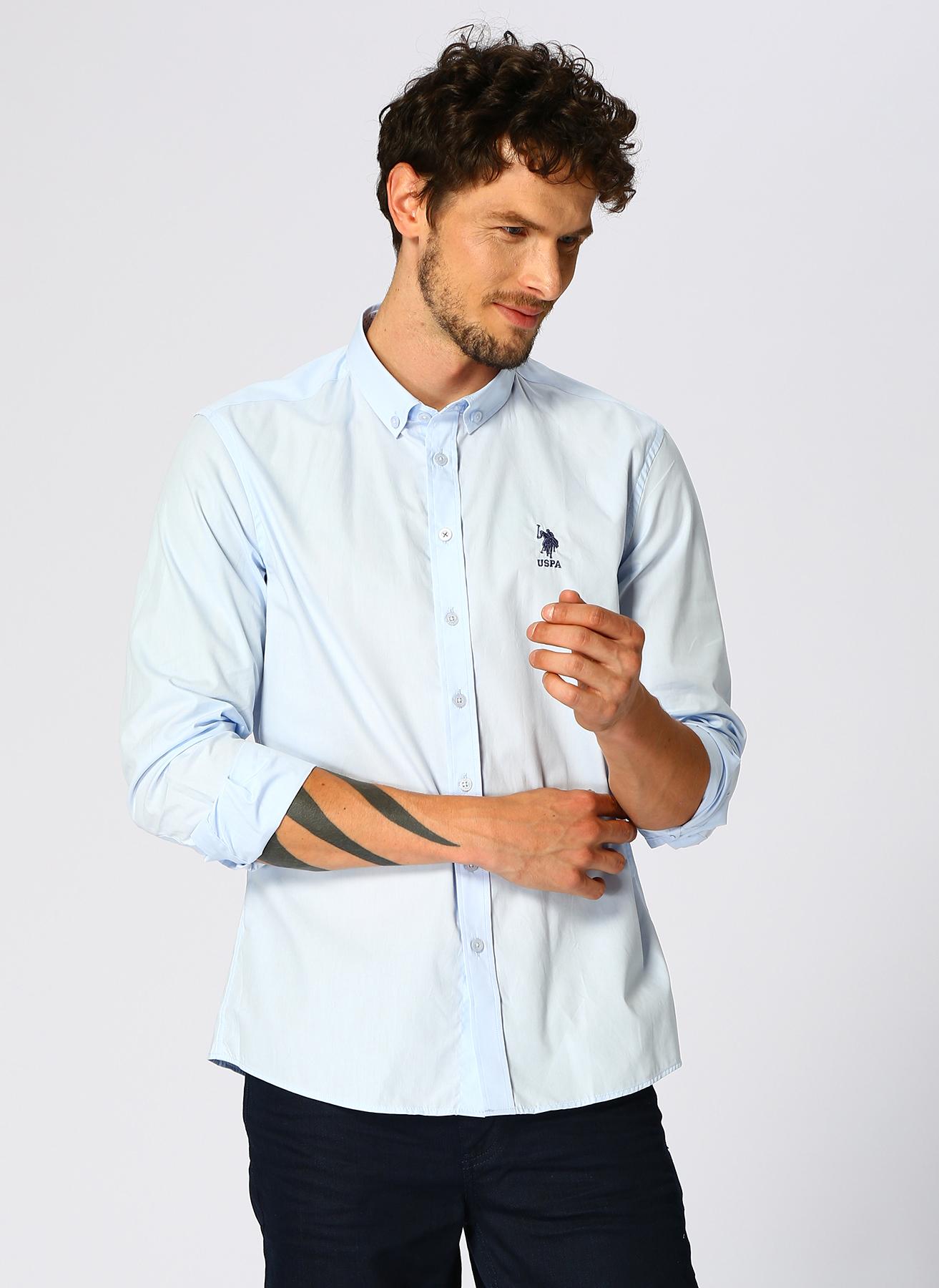 U.S. Polo Assn. Açık Mavi Gömlek L 5001704321007 Ürün Resmi
