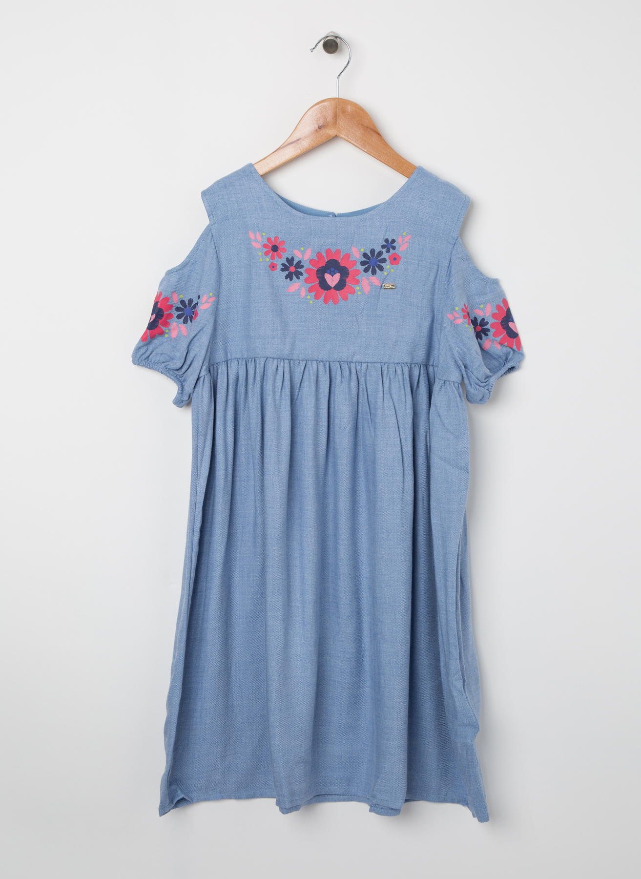 U.S. Polo Assn. Genç Kız Omuz Dekolteli Mavi Elbise 10 Yaş 5001704433001 Ürün Resmi