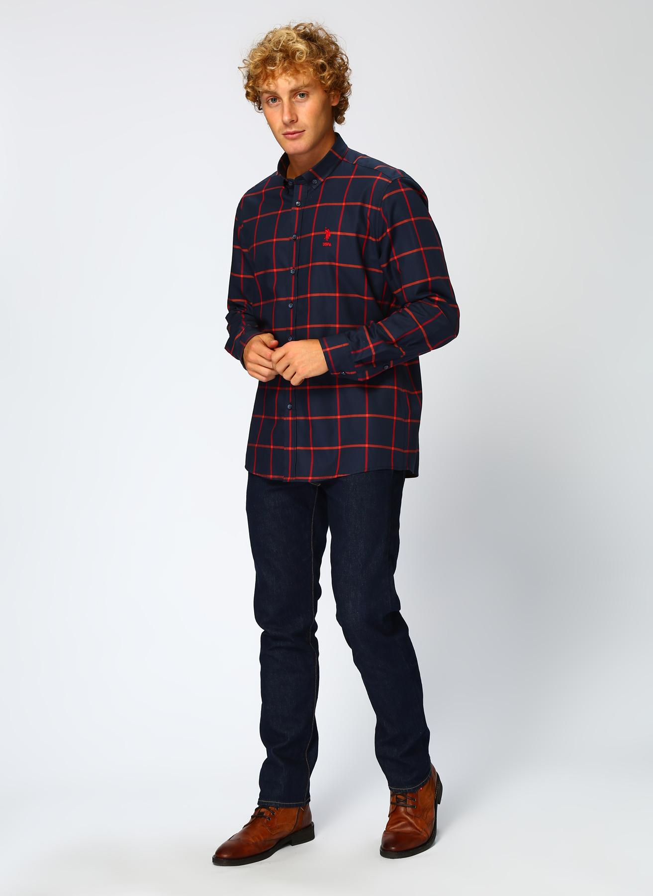U.S. Polo Assn. Kırmızı Gömlek S 5001704588004 Ürün Resmi