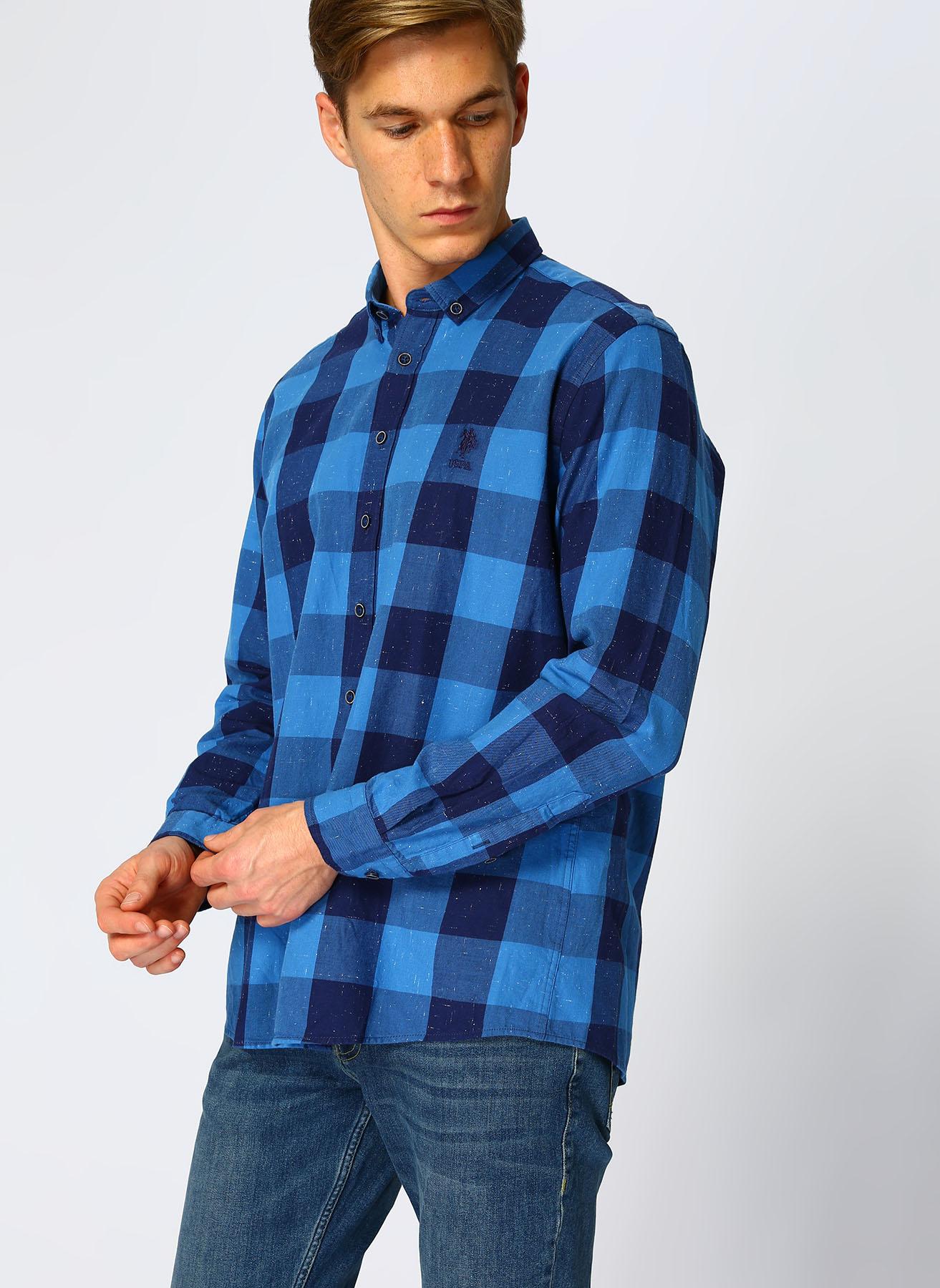 U.S. Polo Assn. Mavi Gömlek 2XL 5001704594001 Ürün Resmi