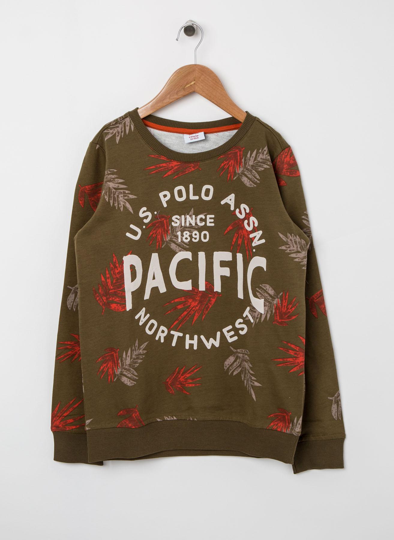 U.S. Polo Assn. Genç Erkek Baskılı Haki Sweatshirt 4 Yaş 5001704623006 Ürün Resmi