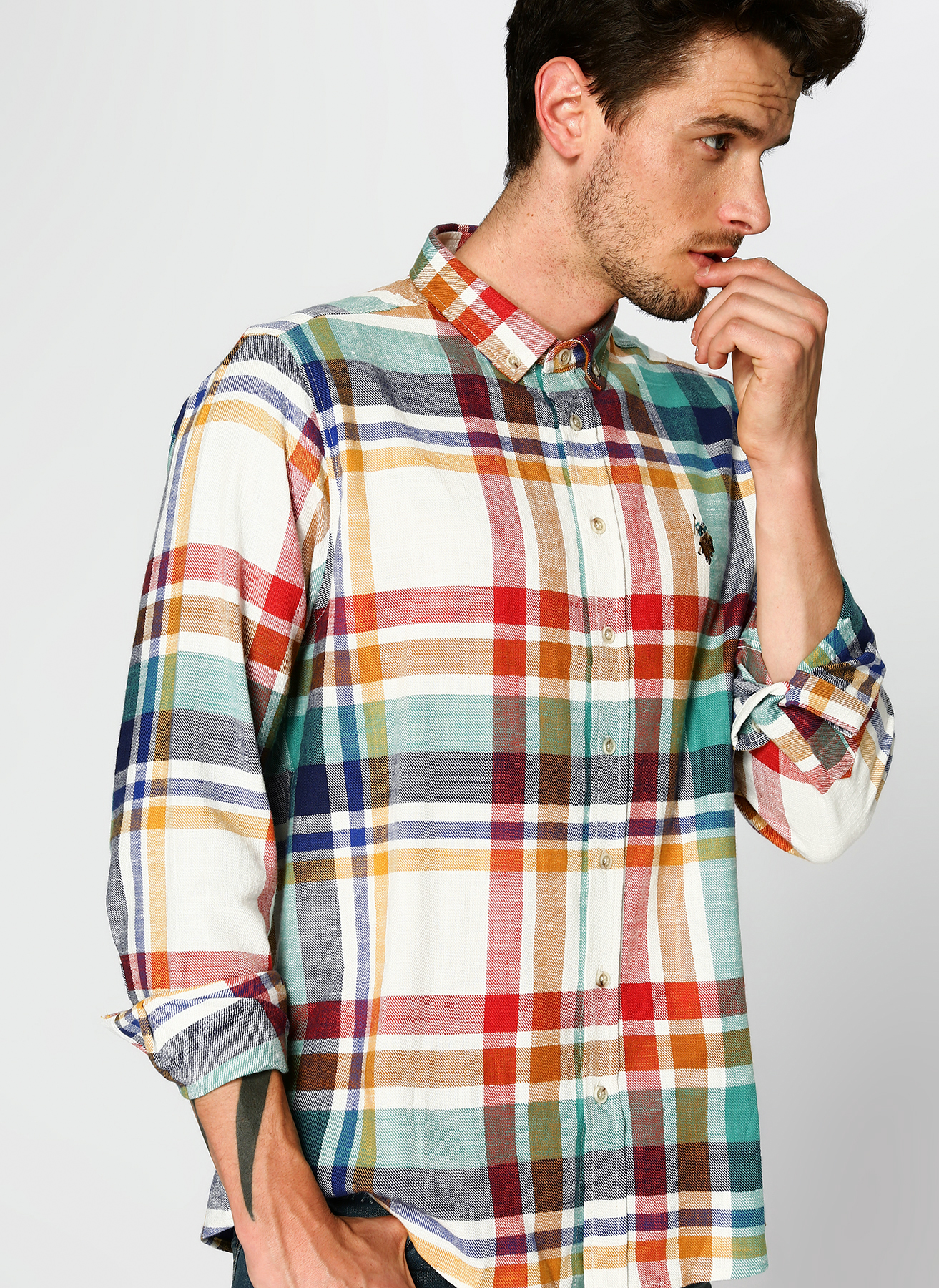 U.S. Polo Assn. Ekoseli Renkli Gömlek 3XL 5001704669001 Ürün Resmi