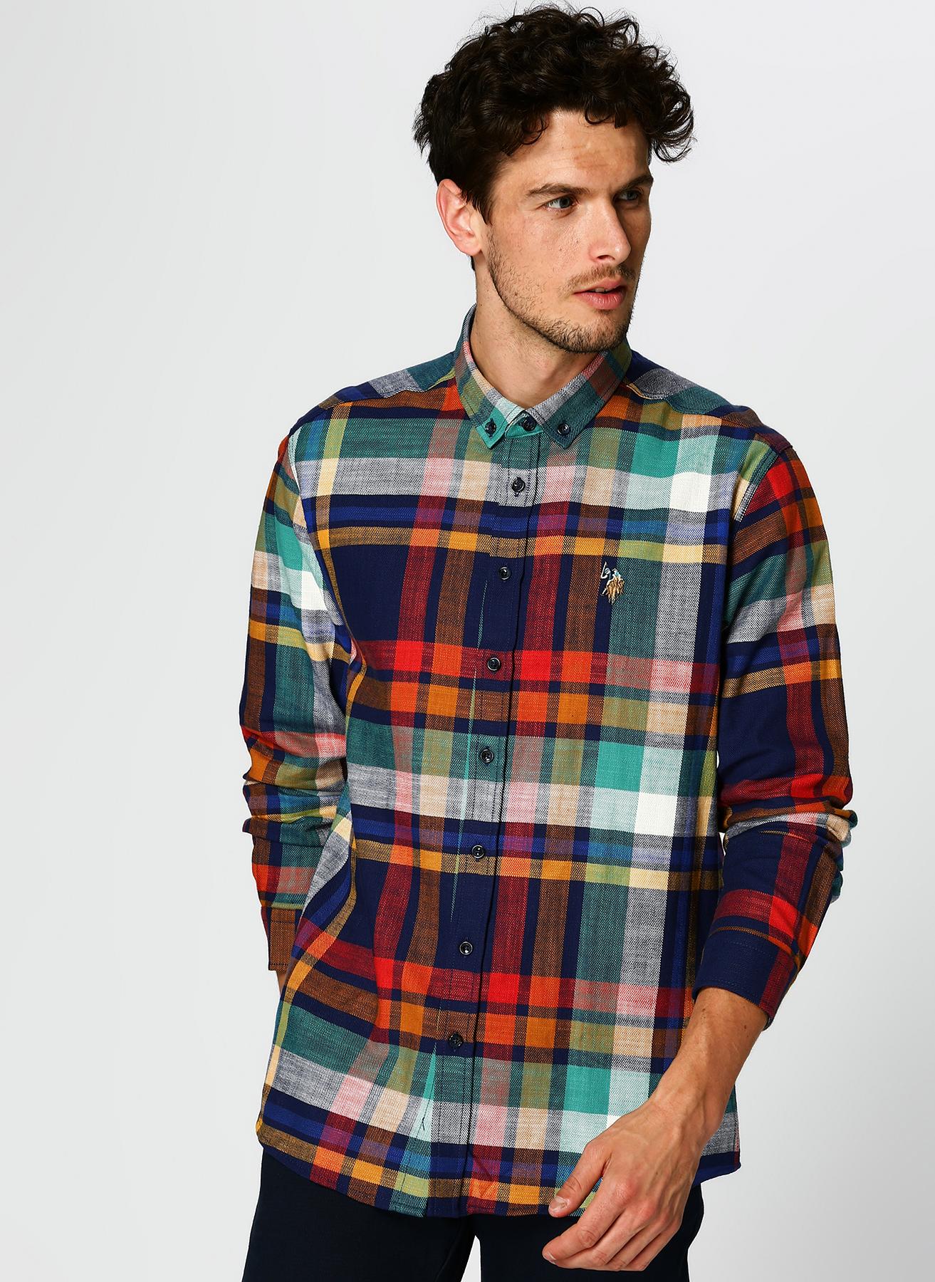 U.S. Polo Assn. Ekoseli Renkli Gömlek XL 5001704671003 Ürün Resmi